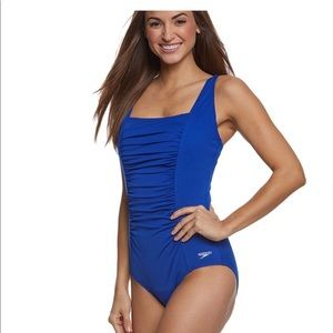 Speedo Women's Shirred One Piece Swimsuit